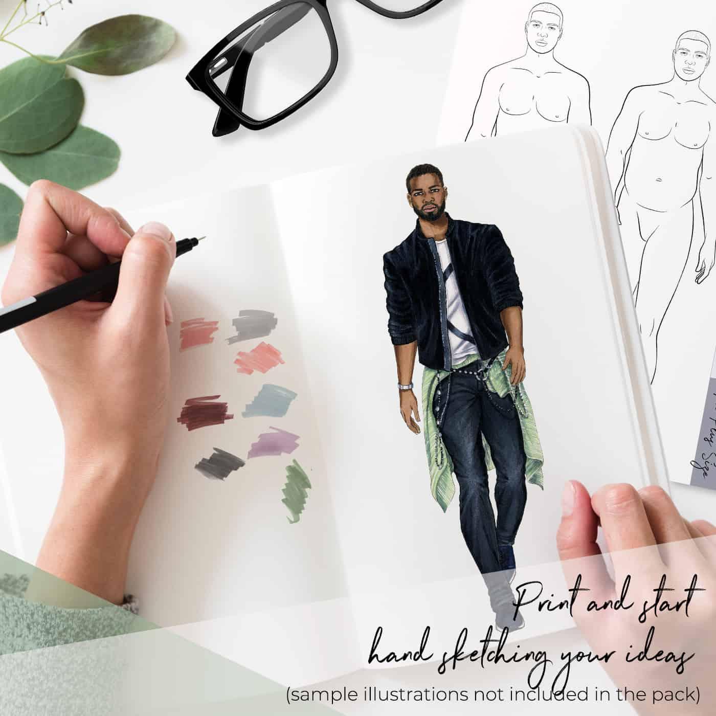 Plus Size Male Model Catwalk Pose Fashion Artventures